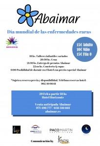 evento benéfico Día Mundial Enfermedades Raras 2016 Abaimar Baleares